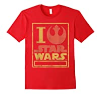 S Rebel Alliance Love Shirts Red