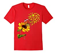 Dog Paw Sunflower You Are My Sunshine T-shirt Red