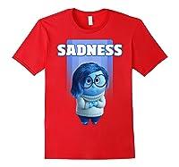 Pixar Inside Out Sadness Portrait Shirts Red