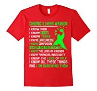 Chronic Illness Warrior For Shirts Red