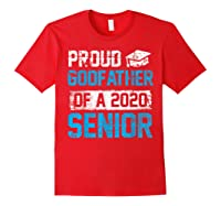 Proud Godfather Of 2020 Graduate Graduation Blue Themed Shirts Red