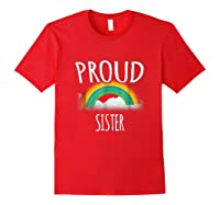 Gay Pride Ally Friends Proud Ally Sister Shirts Red