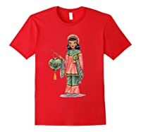 Vintage Traditional National Chinese Costume Doll Shirts Red
