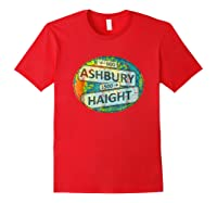 60s 70s Retro Flower Power Haight Ashbury Street Signs 1 Shirts Red