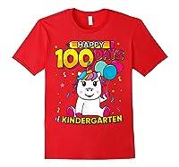 Unicorn Happy 100 Days School Kindergarten Girls Gift Shirts Red