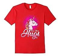 Free Mom Hugs Rainbow Lgbt Pride Unicorn T-shirt Gift Red