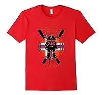Alpine Skiing Attacking Vikings 2018 Shirts Red