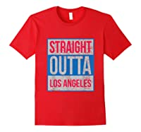 Straight Outta Los Angeles Basketball Shirts Red