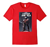 Marvel Captain America Flag Comic Cover Premium T-shirt Red