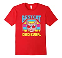 S Best Cat Dad Ever Cat Daddy Gift Premium T-shirt Red