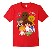 S Cute Kawaii Style Heroes Graphic C1 Shirts Red