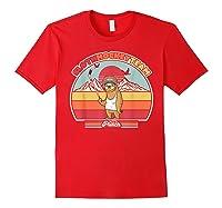 Sloth Hockey Team Shirt. Retro Style T-shirt Red