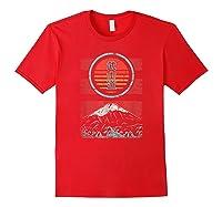 Bushido Kanji Japan Samurai Spirit Retro 80s Style Gift Shirts Red