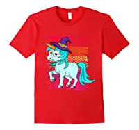 Halloween Unicorn Pride Colors Shirts Red