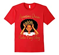 Aquarius Queens Are Born In January 20 February 18 Shirts Red
