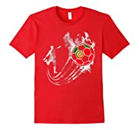 Portugal Soccer Team T-shirt For Fans And Players Red