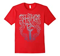 Addams Family Thing Artsy Gradient Sketch Shirts Red