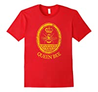 Queen Bee Vintage Beekeeper Mom Mother's Day Wife Gift Shirts Red