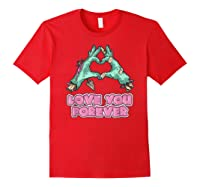Love You Forever Zombie Heart T-shirt Red