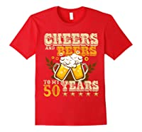 Funny Beer Drinking 1969 T Shirt 50th Birthday Gifts Red