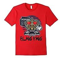 Hip Hop Bling King Shirts Red