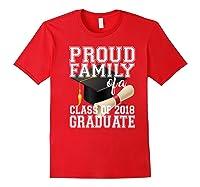 Class Of 2018 Shirt Graduate Graduation Proud Family Red