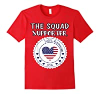 Proud Supporter Of Squad Aoc Pressley Omar Tlaib Shirts Red