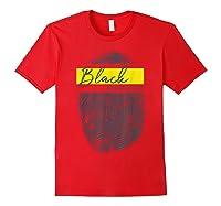 Equality Social Justice Fingerprint Black Empowert Shirts Red