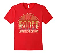 July 2004 Limited Edition 16th Birthday 16 Year Old Gift Shirts Red