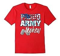 Proud Patriotic Usa Army Nephew Usa Flag Military Shirts Red