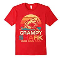 Grampy Shark Doo Doo Doo Fathers Day Gift Shirts Red