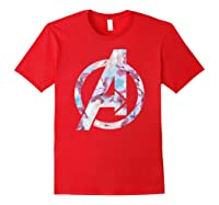 Avengers Logo Floral Super Hero Shirts Red