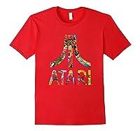 Atari Montage Logo Arms Shirts Red