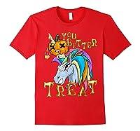 Unicorn Pumpkin Shirts Red