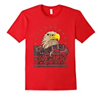 Cool American Flag Eagle Powerful Us Army Patriot Gift T-shirt Red