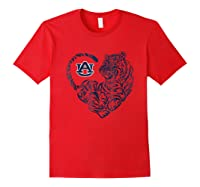 Auburn Tigers Tiger Heart - Orange Shirt T-shirt - Apparel Red