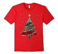 Christmas Tree Leopard Print Buffalo Plaid Merry Xmas Gift Shirts Red