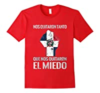 Dominican Republic Flag Fist Dominican Election 2020 Protest T-shirt Red