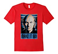 Star Trek Next Generation Picard Make Is So Graphic Shirts Red