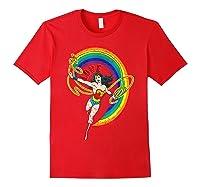 Wonder Woman Rainbow Love Shirts Red