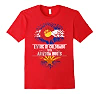 Colorado Home Arizona Roots State Tree Flag Love Gift Shirts Red