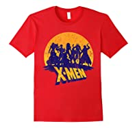 Marvel X- Logo And Mutants Classic T-shirt Red