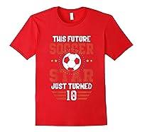10th Birthday Soccer Birthday Boy Shirts Red