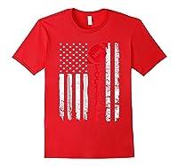 Football Shirt: Usa American Flag Sport Team Fan T-shirt Red