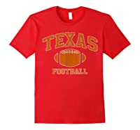 Texas Football - Tx Vintage Varsity Style T-shirt Red