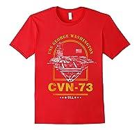 Cvn-73 Uss George Washington Zip Shirts Red