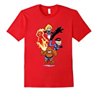 Fantastic Four Shirts Red