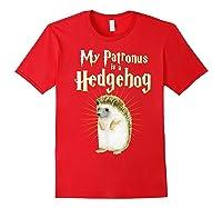 My Patronus Is A Hedgehog Harry Fan Cute Gift Shirts Red