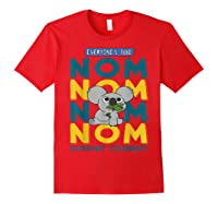 We Bare Bears Nom Nom Everyone's Tube Internet Celebrity Shirts Red