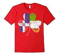 Irish Dominican Flag Ireland Shamrock St Patricks Day Shirts Red